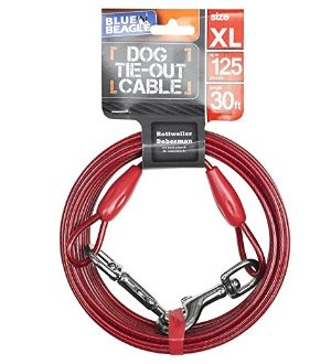 $9.77 BV Pet Reflective Tie-Out Cable for Dogs up to 90 / 125 / 250 Pound in 25 or 30 Feet, Multi-dog Size Options