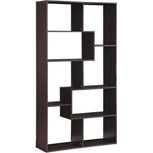 Mainstays Home 8-Shelf Bookcase, Espresso