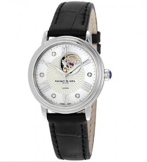 RAYMOND WEIL Maestro Automatic Mother of Pearl Dial Diamond Ladies Watch