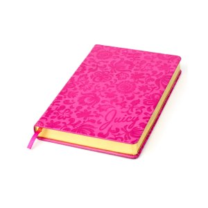 PINK EMBOSSED BOUND JOURNAL - Juicy Couture