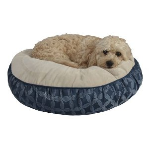 Pet Spaces 24-Inch Print Round Pet Bed