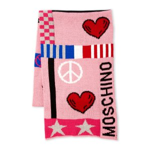 MOSCHINO Peace & Love Wool-Blend Scarf