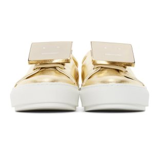 Acne Studios Gold Leather Adriana Sneakers