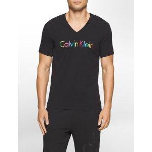 ck glow chromatic v-neck t-shirt   Calvin Klein