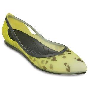 Women's Crocs Rio Leopard Fade Flat |