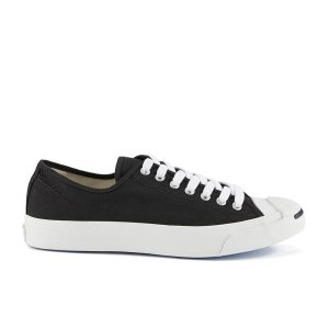 Converse Jack Purcell LTT Canvas Trainers - Black/White - Free UK Delivery over £50