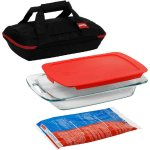 Pyrex 4-Piece Portable Set with Carrier, Glass