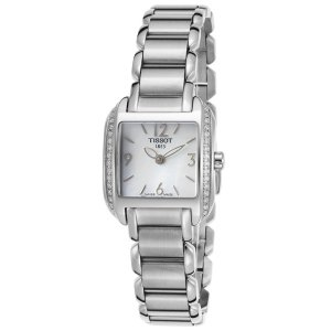 Tissot Women's Diamond T-Wave Stainless Steel White MOP Dial SS | World of Watches