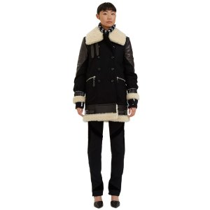 Altuzarra Ismir Double-Breasted Shearling Coat | LN-CC