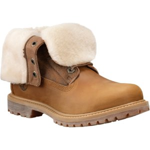 Womens Timberland Authentics Shearling Fold-Down Boot - FREE Shipping & Exchanges