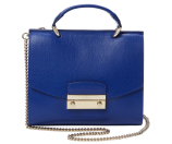 Julia Mini Saffiano Leather Top Handle Satchel by Furla
