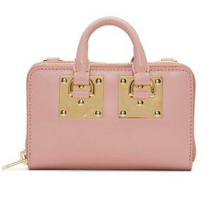 $525Sophie Hulme Pink Medium Albion Double Zip Wallet Bag @ SSENSE