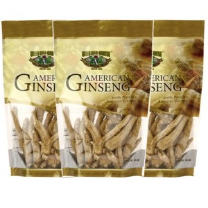 American Ginseng Root Medium 8oz bag x 3