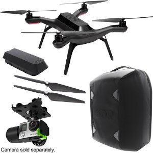 3DR Solo Drone with Gimbal, Rechargeable Battery, Extra Propellers and Backpack