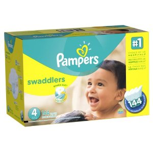 Amazon.com: Pampers Swaddlers Diapers Economy Pack Plus, Size 4, (144 Count) (Packaging May Vary): Health & Personal Care