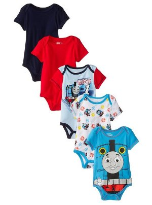 From $7.16 Thomas the Train Baby Boys' Thomas 5 Pack Bodysuit