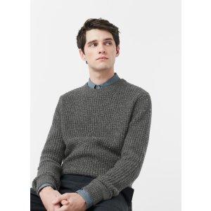Flecked cotton wool-blend sweater - Man | MANGO Man USA