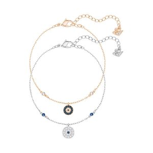 Crystal Wishes Evil Eye Bracelet Set, Blue - Jewelry - Swarovski Online Shop