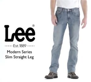 As Low as $29.99 Lee Men's Modern Series Slim-Fit Straight-Leg Jean