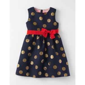 Spot Jacquard Dress 33498 Dresses at Boden