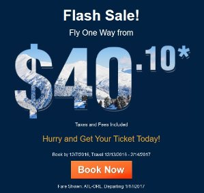Flash SaleFly From $40.1