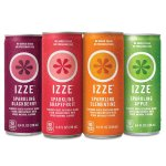 IZZE Sparkling Juice, 4 Flavor Variety Pack, 8.4 Ounce (Pack of 24)