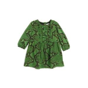 Burberry Joanie Snake Print Silk Dress (Baby Girls)