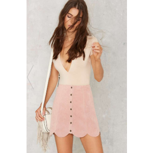 Noah Suede Mini Skirt - Pink