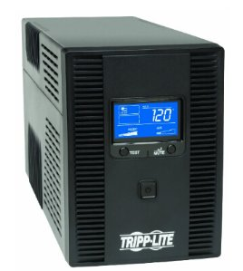 Tripp Lite 1500VA UPS Back Up, AVR, LCD Display, 10 Outlets, 120V 900W, Tel & Coax Protection, USB