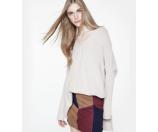 Vince Mixed-Rib Knit Poncho Sweater