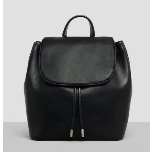Leather Drawstring Backpack   Kenneth Cole