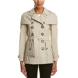 Burberry Lightweight Cape Detail Trench Coat