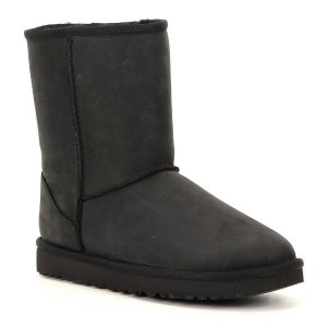 UGG® Classic Short Water-Resistant Leather Boots | Dillards