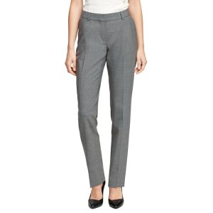 Petite Lucia Fit Wool Trousers - Brooks Brothers