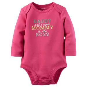 Baby Girl Mommy's The Boss Collectible Bodysuit | Carters.com