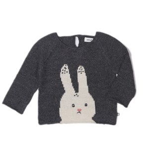 Bunny Sweater-Dark Grey/Multi