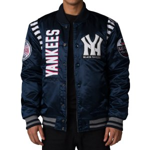 STALL & DEAN BLACK YANKEES REVERSIBLE VARSITY JACKET - Navy | Jimmy Jazz - SM6303NY