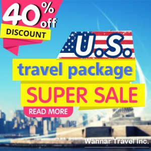 38% Off U.S. travel package sale @ wannar.com