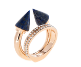 Titan Stone & Double Crystal Ring by Vita Fede at Gilt