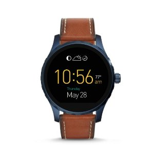 Q Marshal Touchscreen Smoke Stainless Steel Smartwatch - Fossil