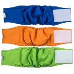 VIILER Pack of 3 Reusable and Absorb Dog Diapers