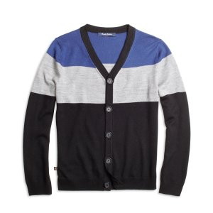 Boys' Wool Colorblock Cardigan | Brooks Brothers