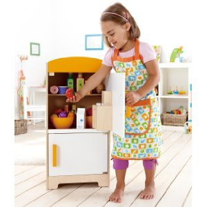 Hape - Playfully Delicious - Gourmet Fridge Wooden Play Kitchen Set