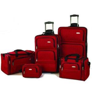 BuyDig.com - Samsonite 5 Piece Nested Luggage Set (Red)