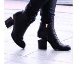 Alexander Wang Gabi Leather Block-Heel Booties