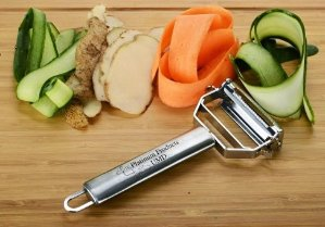 Ultra Sharp Professional Quality #1 Dual Peeler today Julienne & Vegetable Peeler FDA approved stainless steel.