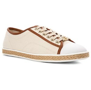 $29.7(reg.$99.9) Michael Kors Kristy Canvas And Leather Sneaker
