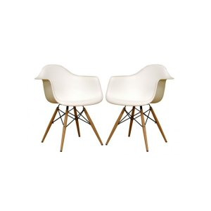 Lisette Tower Arm Chair, White (Set of 2)
