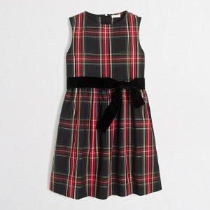 Girls' tartan plaid dress : Dresses | J.Crew Factory