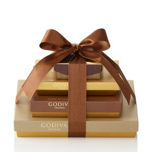 4-Tier Sweet Surprise Classic Gift Tower | GODIVA